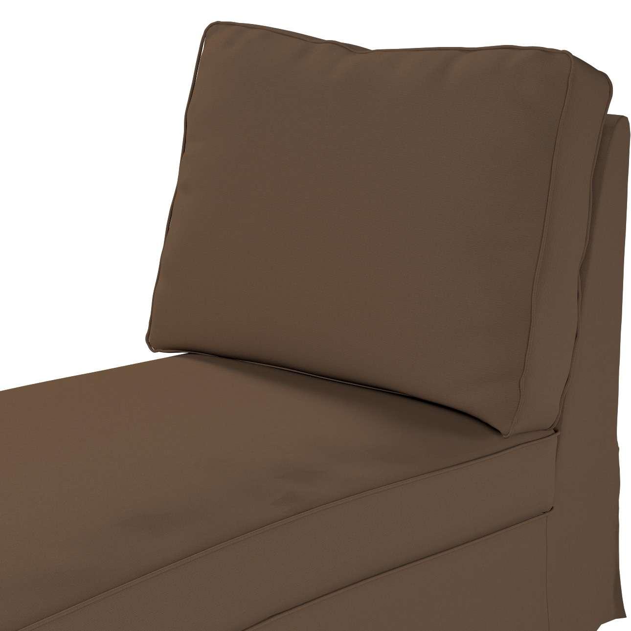 Pokrowiec na szezlong/ leżankę Ektorp wolnostojący prosty tył w kolekcji Cotton Panama, tkanina: 702-02