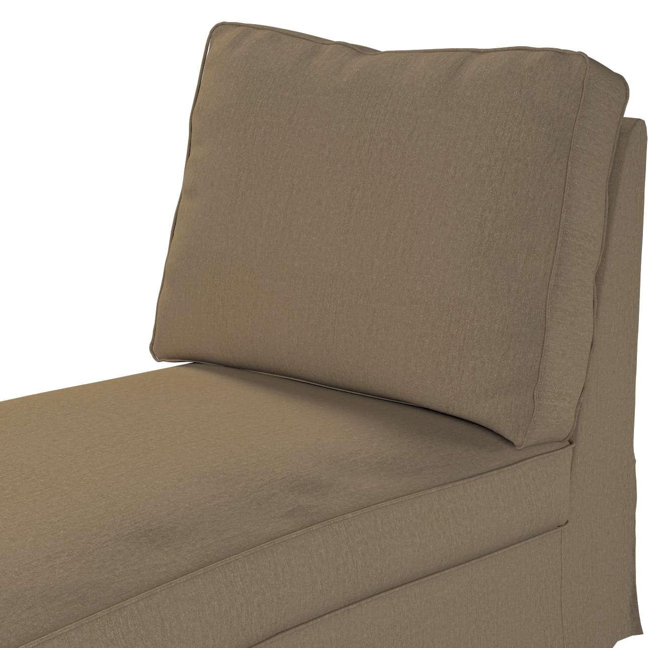 Pokrowiec na szezlong/ leżankę Ektorp wolnostojący prosty tył w kolekcji Chenille, tkanina: 702-21