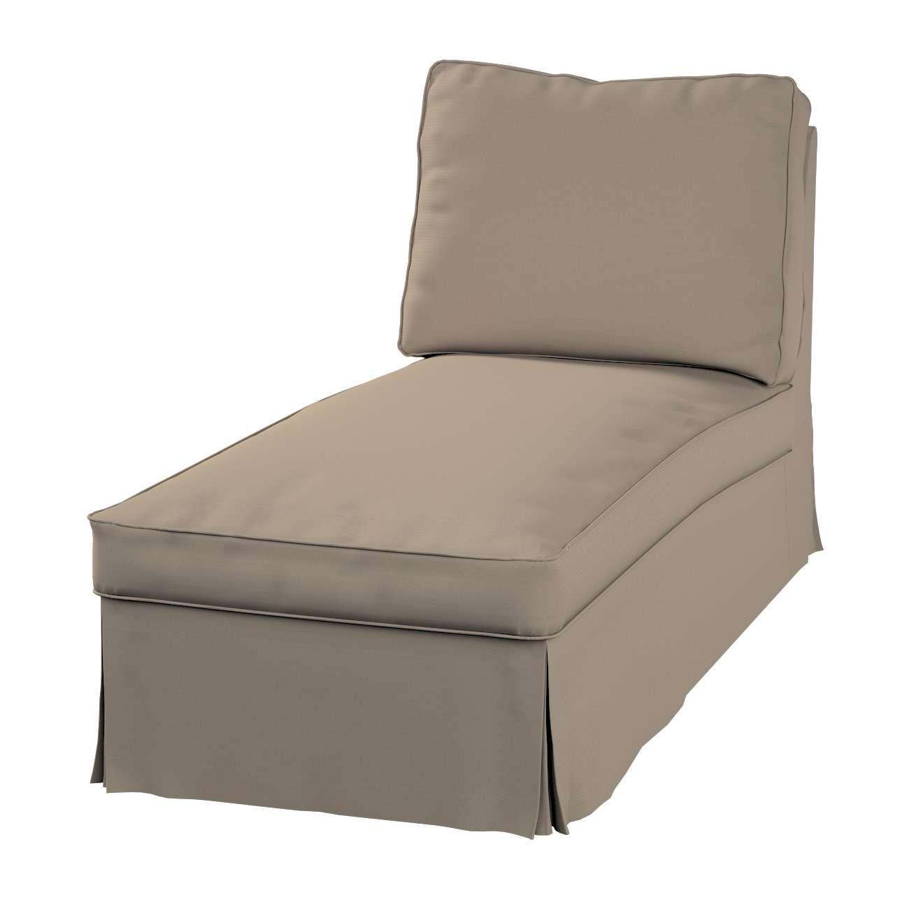 Ektorp chaiselong uden armlæn med ret ryg fra kollektionen Cotton Panama, Stof: 702-28