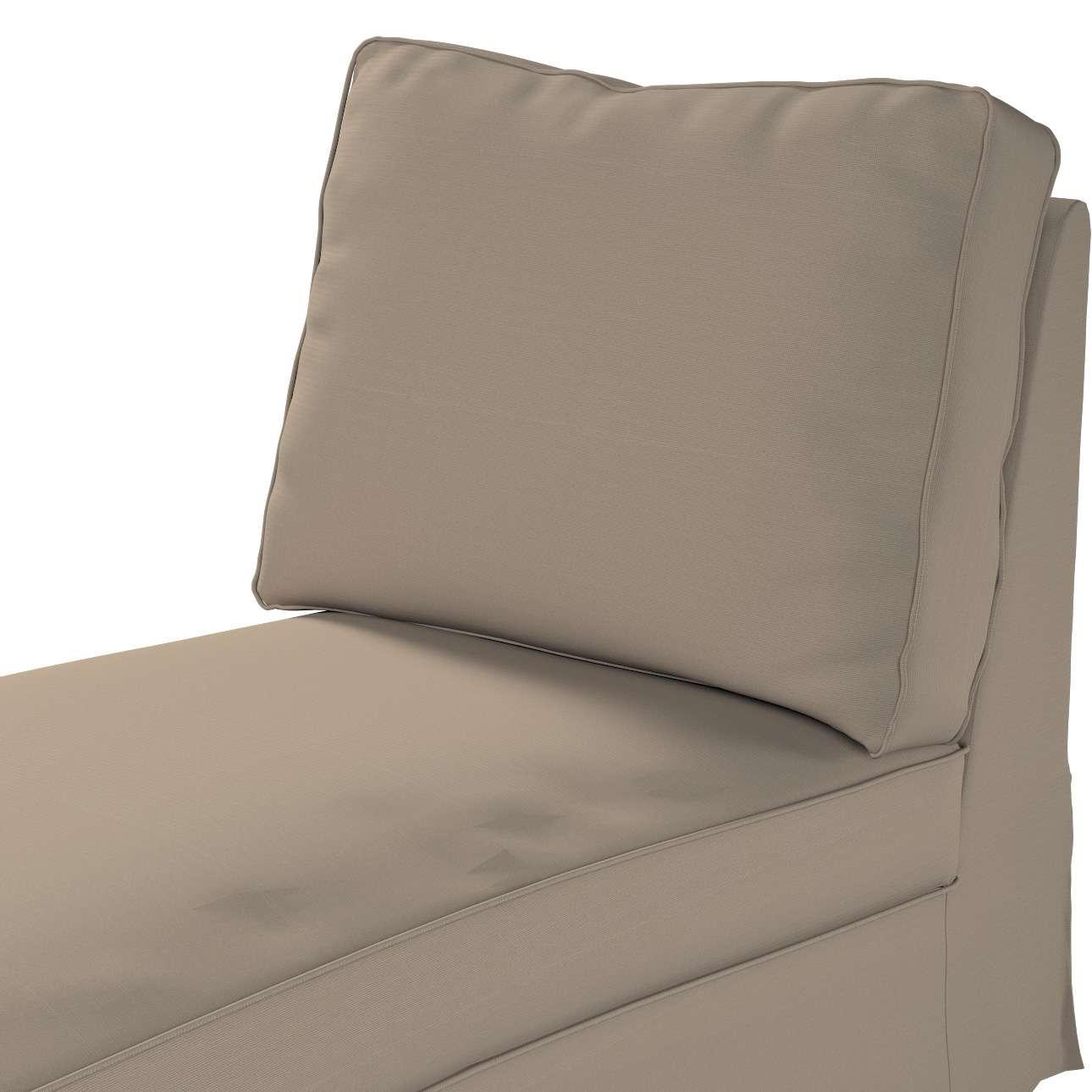 Ektorp betræk chaiselong uden armlæn med ret ryg fra kollektionen Cotton Panama, Stof: 702-28