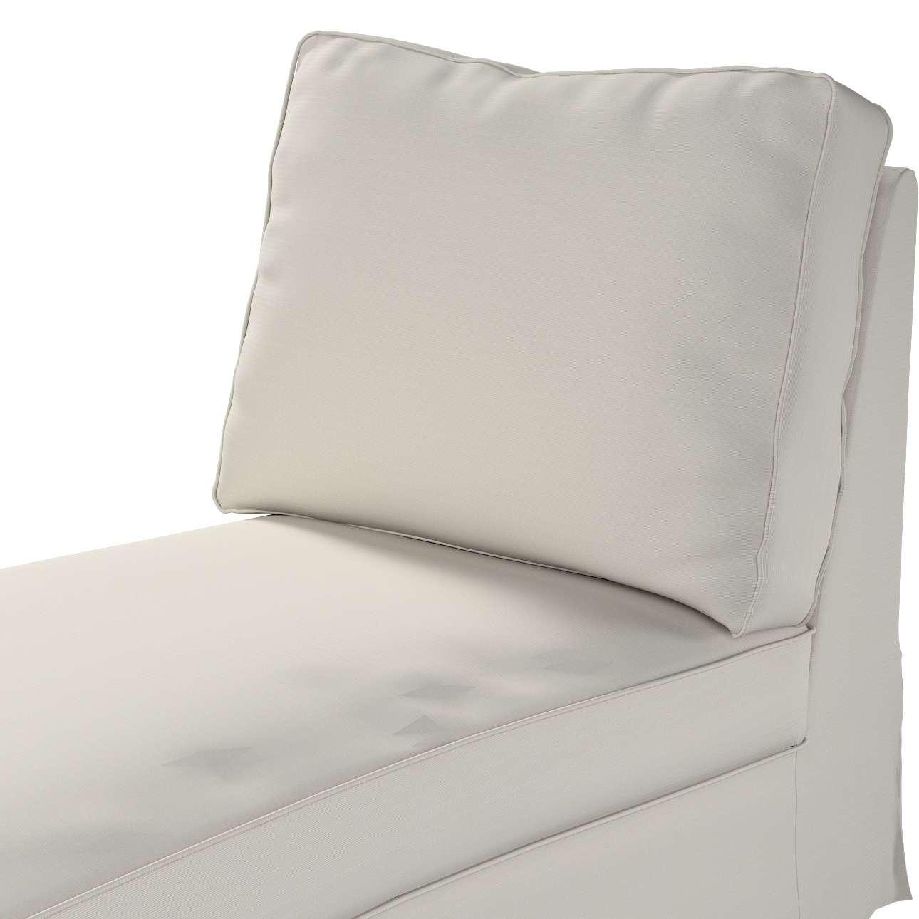 Pokrowiec na szezlong/ leżankę Ektorp wolnostojący prosty tył w kolekcji Cotton Panama, tkanina: 702-31