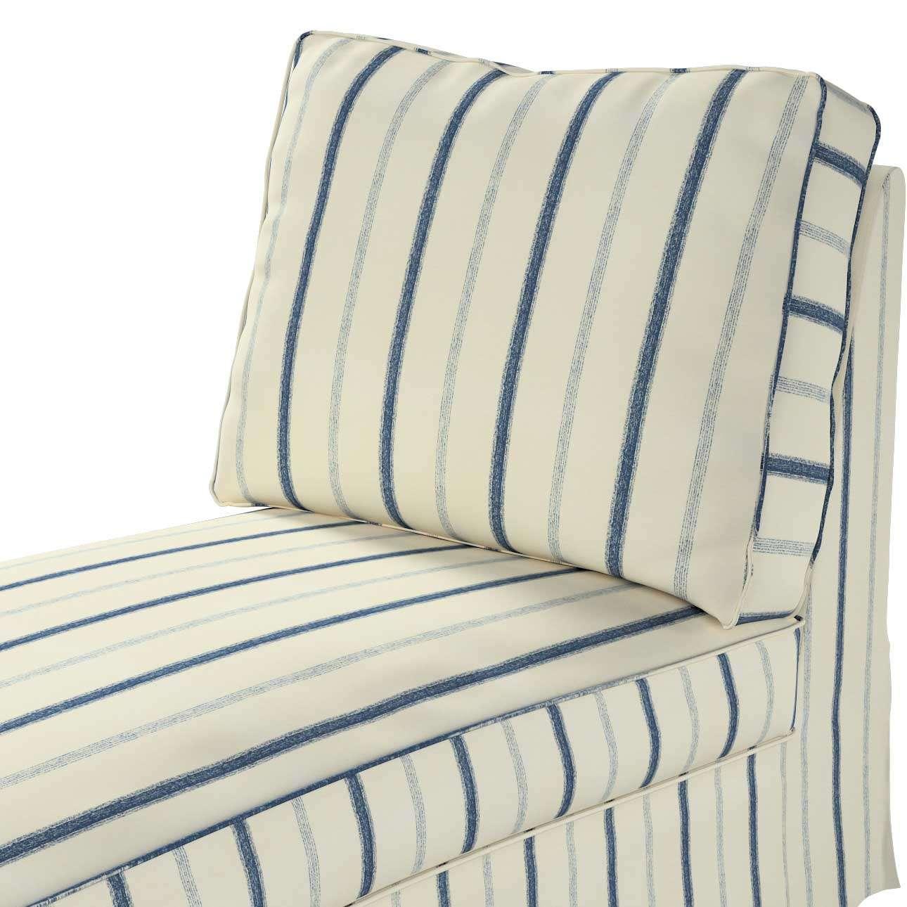 Pokrowiec na szezlong/ leżankę Ektorp wolnostojący prosty tył w kolekcji Avinon, tkanina: 129-66