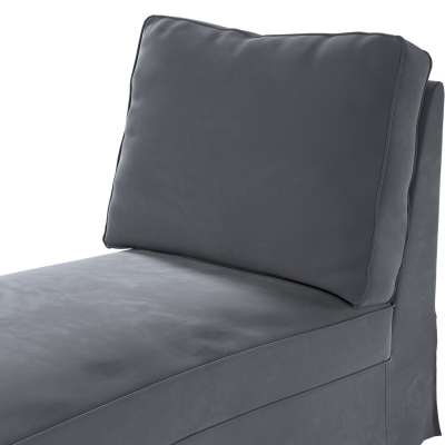 Pokrowiec na szezlong/ leżankę Ektorp wolnostojący prosty tył w kolekcji Velvet, tkanina: 704-12