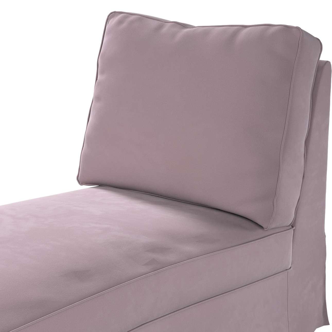 Pokrowiec na szezlong/ leżankę Ektorp wolnostojący prosty tył w kolekcji Velvet, tkanina: 704-14