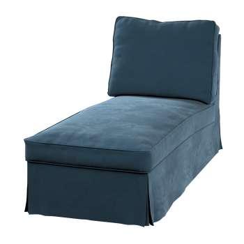 Pokrowiec na szezlong/ leżankę Ektorp wolnostojący prosty tył w kolekcji Velvet, tkanina: 704-16