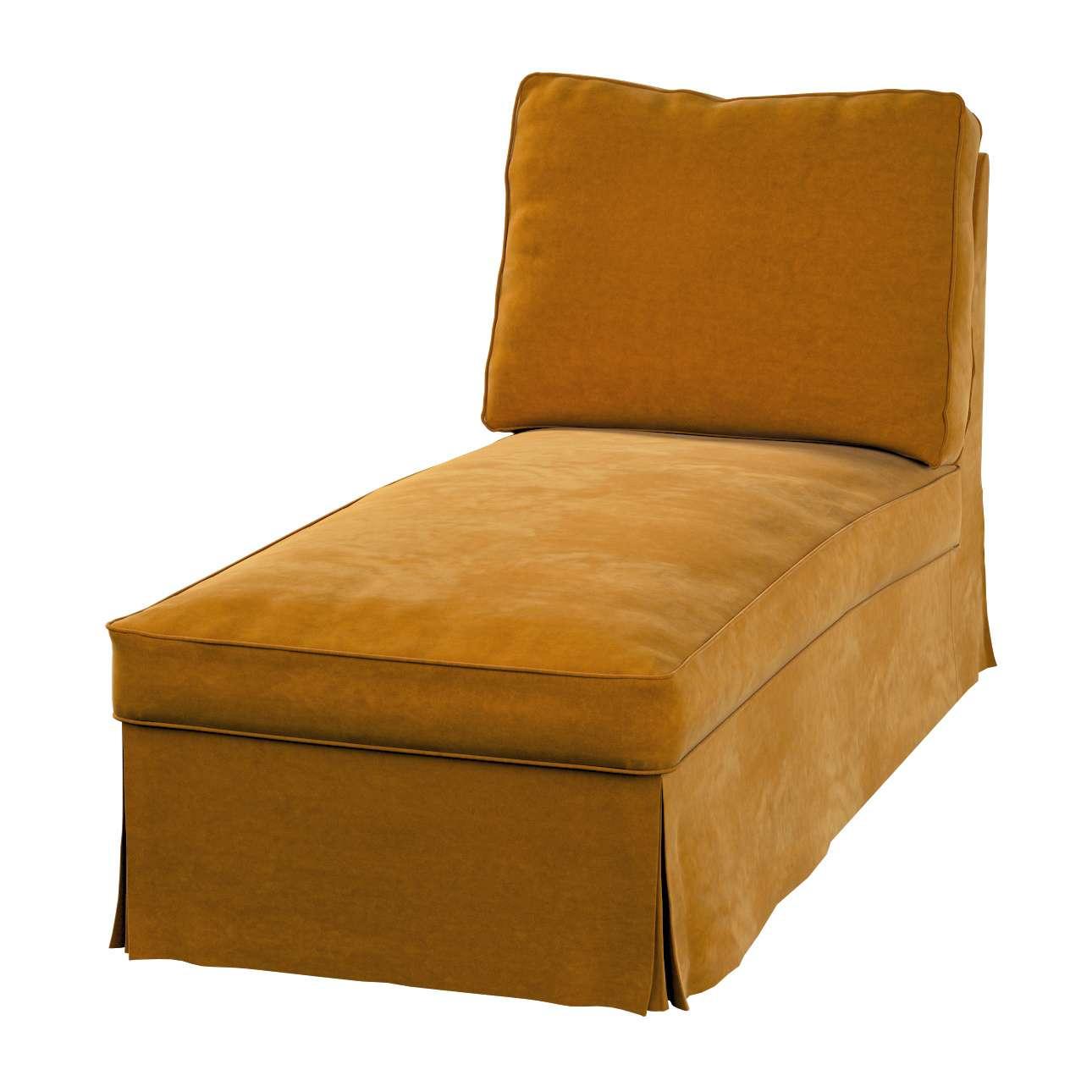 Pokrowiec na szezlong/ leżankę Ektorp wolnostojący prosty tył w kolekcji Velvet, tkanina: 704-23