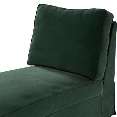 Pokrowiec na szezlong/ leżankę Ektorp wolnostojący prosty tył w kolekcji Velvet, tkanina: 704-25