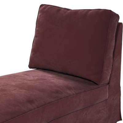 Pokrowiec na szezlong/ leżankę Ektorp wolnostojący prosty tył w kolekcji Velvet, tkanina: 704-26
