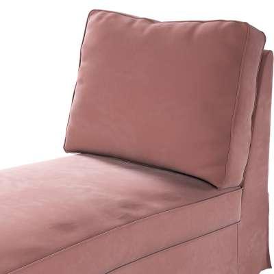 Pokrowiec na szezlong/ leżankę Ektorp wolnostojący prosty tył w kolekcji Velvet, tkanina: 704-30