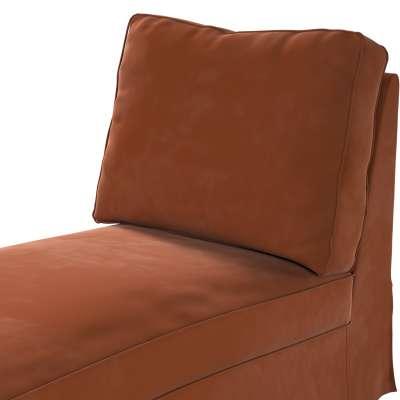 Pokrowiec na szezlong/ leżankę Ektorp wolnostojący prosty tył w kolekcji Velvet, tkanina: 704-33