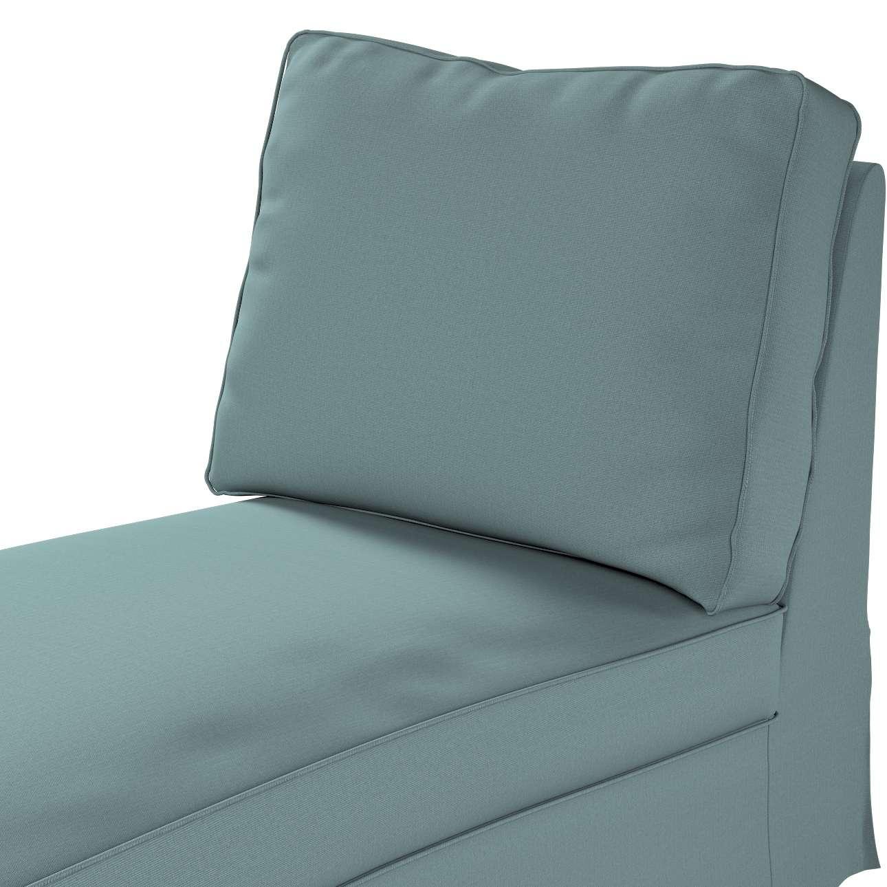 Pokrowiec na szezlong/ leżankę Ektorp wolnostojący prosty tył w kolekcji Cotton Panama, tkanina: 702-40