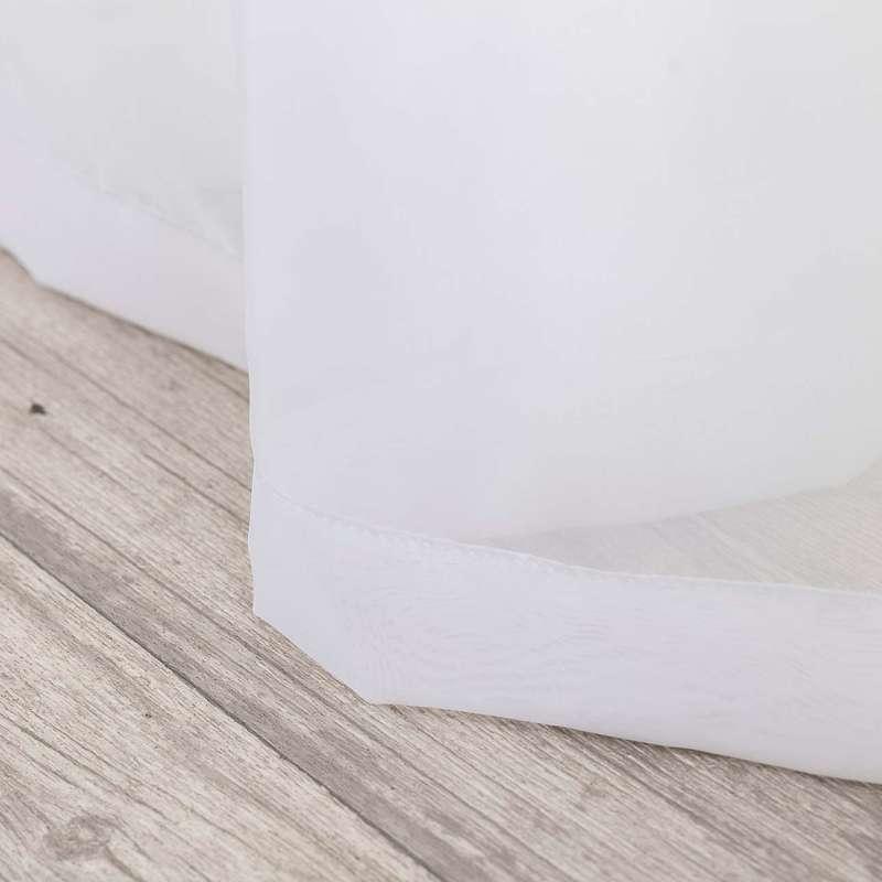 Voálová záclona na poutkách v kolekci Soft Veil, látka: 900-00