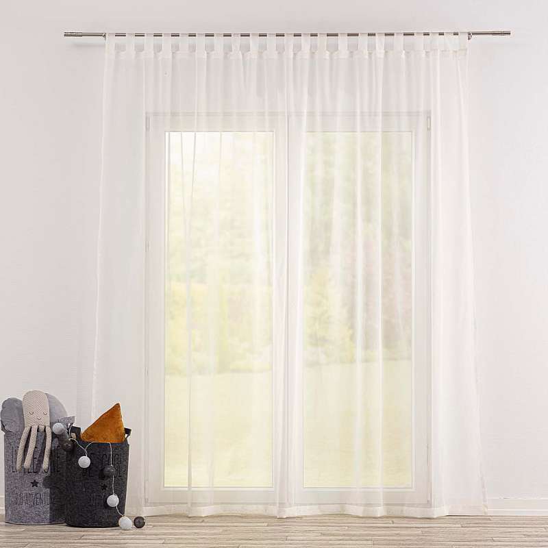 Gardine mit Schlaufen von der Kollektion Soft Veil, Stoff: 900-01