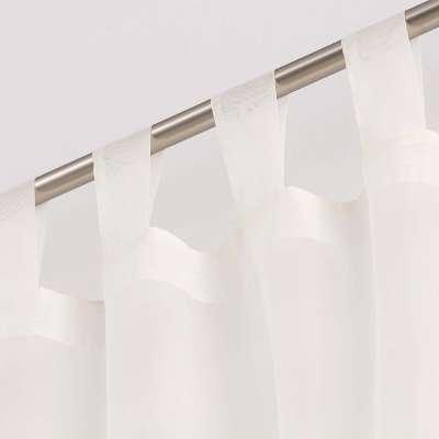 Dieninės užuolaidos su kilpelėmis 901-01 dramblio kaulo/su svareliu apačioje Kolekcija Soft Veil