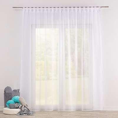 Firana woalowa na szelkach 901-00 biały/ołowianka Kolekcja Soft Veil