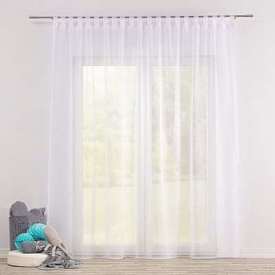 Gardine mit Schlaufen 901-00 weiss mit Bleiband Kollektion Soft Veil