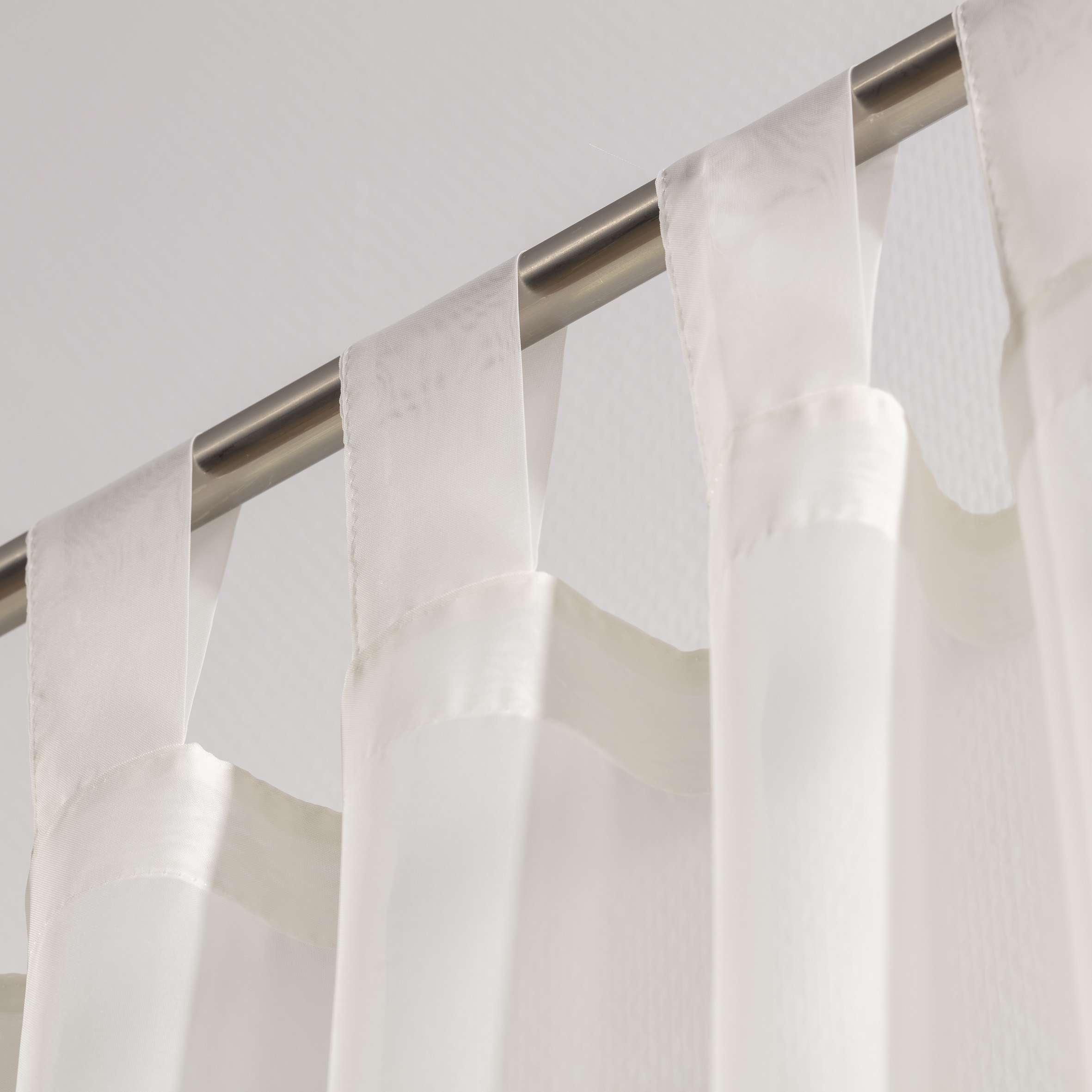Záclona voálová jednoduchá na poutka na míru v kolekci Voile - Voál, látka: 900-01