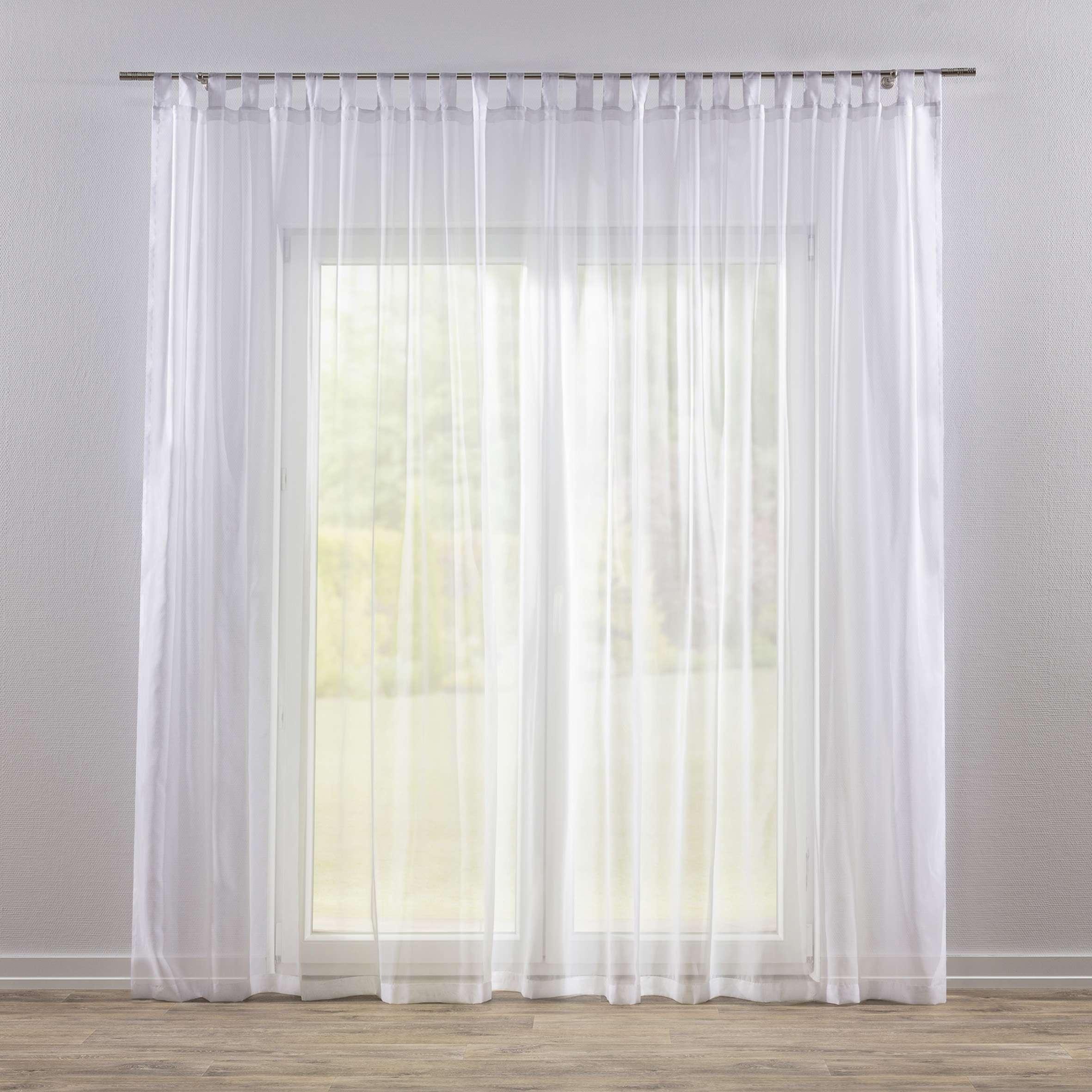 Záclona voálová jednoduchá na poutka na míru v kolekci Voile - Voál, látka: 900-00