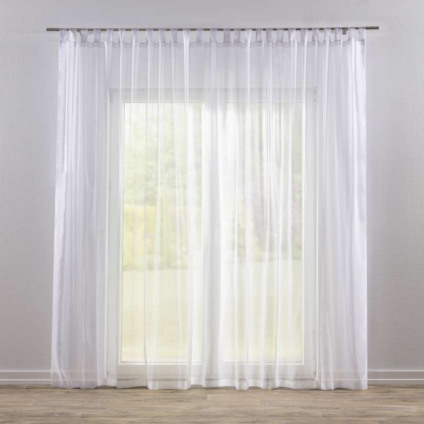 Tab Top Voile Net Curtains White Dekoria