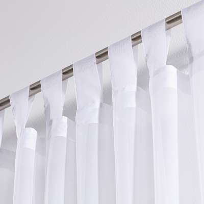 Tab top voile/net curtains 901-00 white/lead hem  Collection Voile