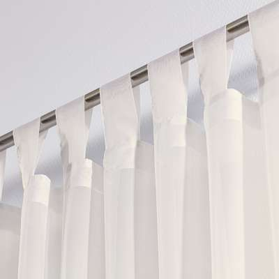 Tab top voile/net curtains 901-01 ivory/lead hem Collection Voile