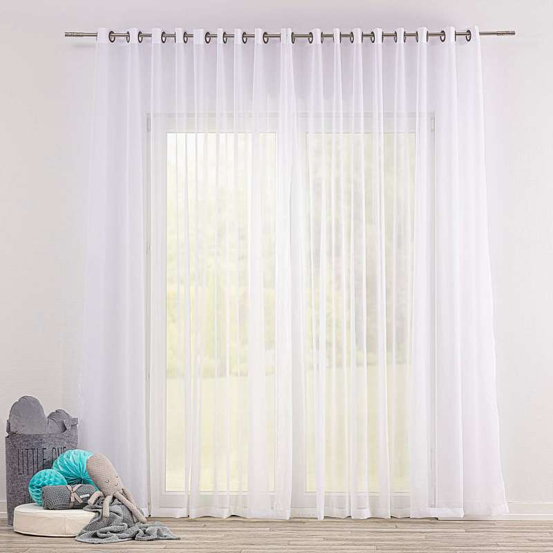 Gardine mit Ösen von der Kollektion Soft Veil, Stoff: 900-00