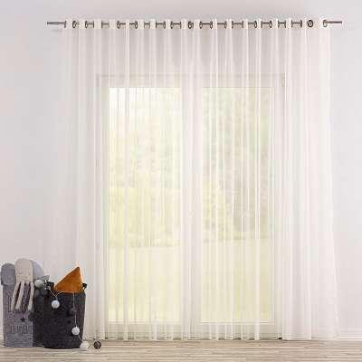 Firana woalowa na kółkach 901-01 ecru/ołowianka Kolekcja Soft Veil