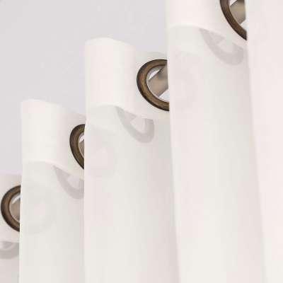 Dieninės žiedinės užuolaidos 901-01 dramblio kaulo/su svareliu apačioje Kolekcija Soft Veil