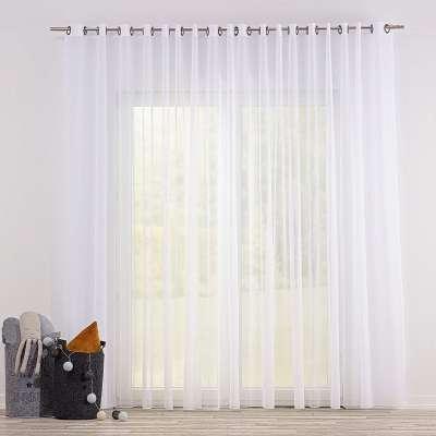 Voálová záclona s průchodkami 901-00 bílá / olovo Kolekce Soft Veil