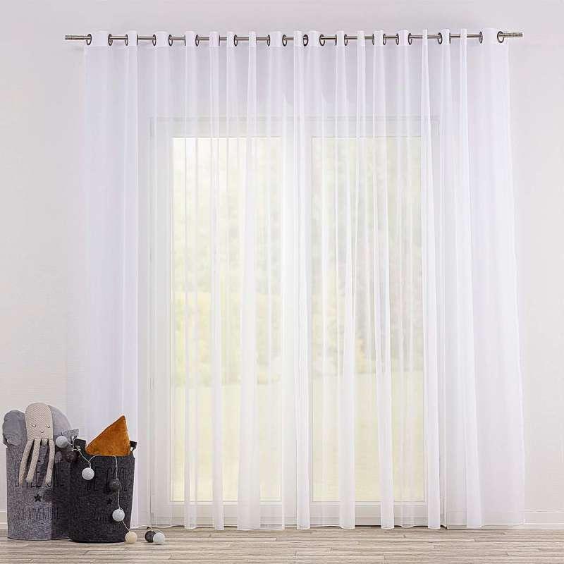 Voálová záclona s průchodkami v kolekci Soft Veil, látka: 901-00