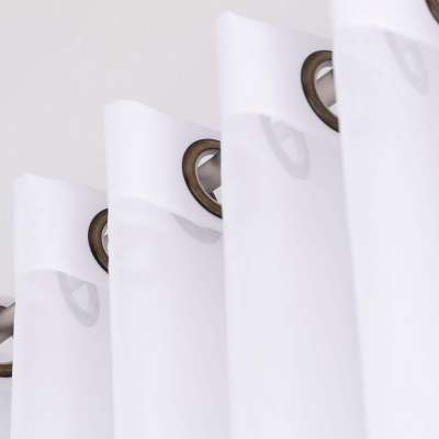 Firana woalowa na kółkach 901-00 biały/ołowianka Kolekcja Soft Veil