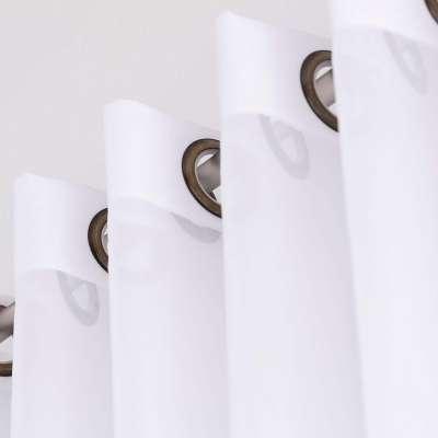 Dieninės žiedinės užuolaidos 901-00 balta/su svareliu apačioje Kolekcija Soft Veil