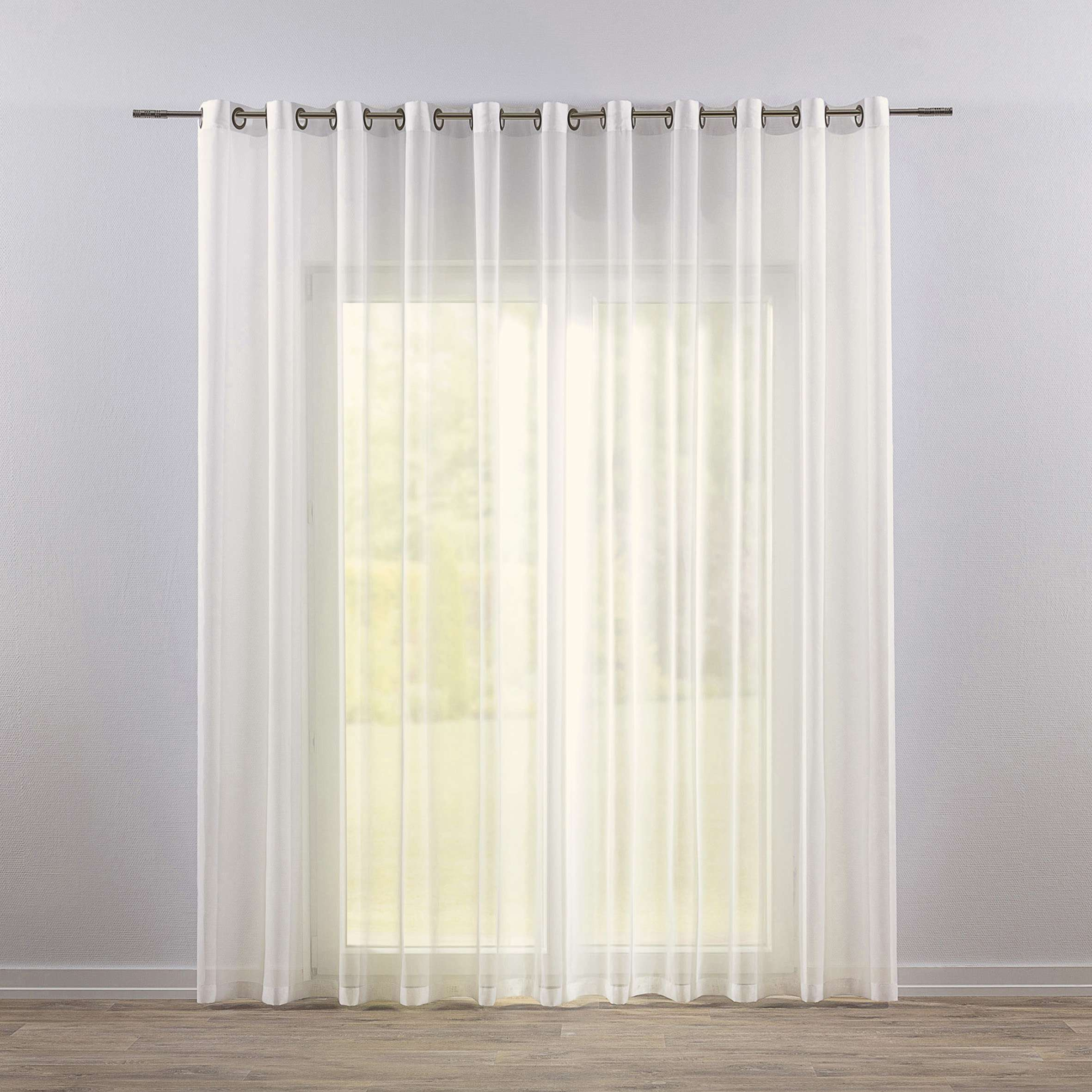 Firana woalowa prosta na kółkach 300x260cm w kolekcji Woale, tkanina: 900-01