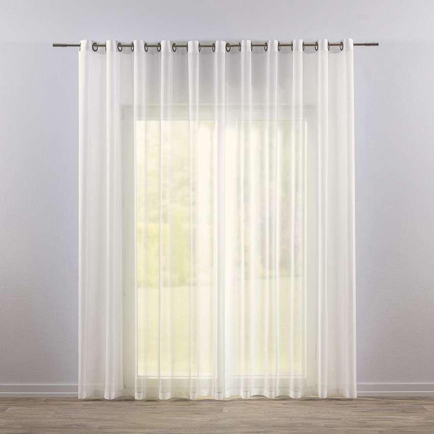 Eyelet Voile Net Curtains Ivory Dekoria