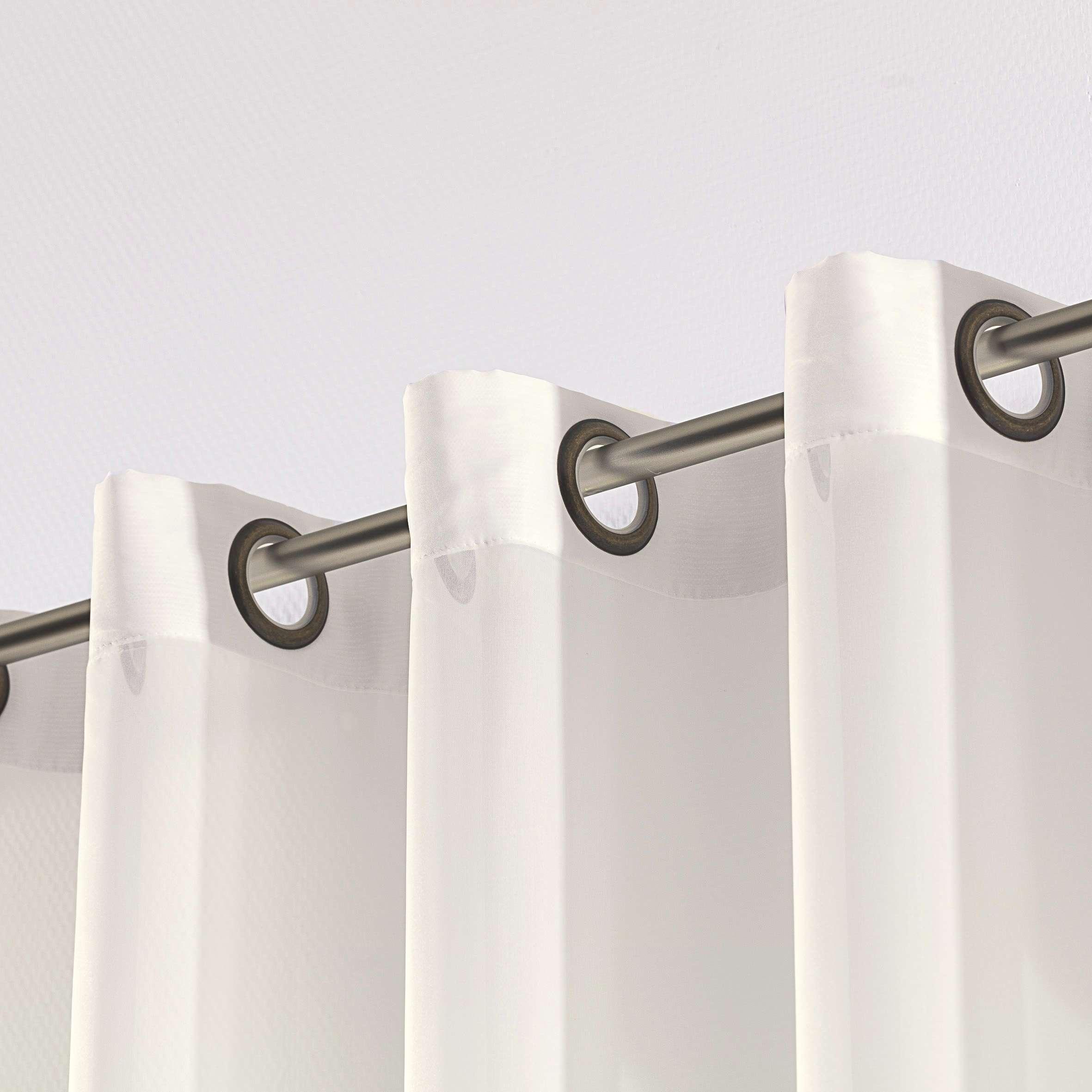 Záclona voálová jednoduchá na kroužcích na míru 300x260cm v kolekci Voile - Voál, látka: 900-01