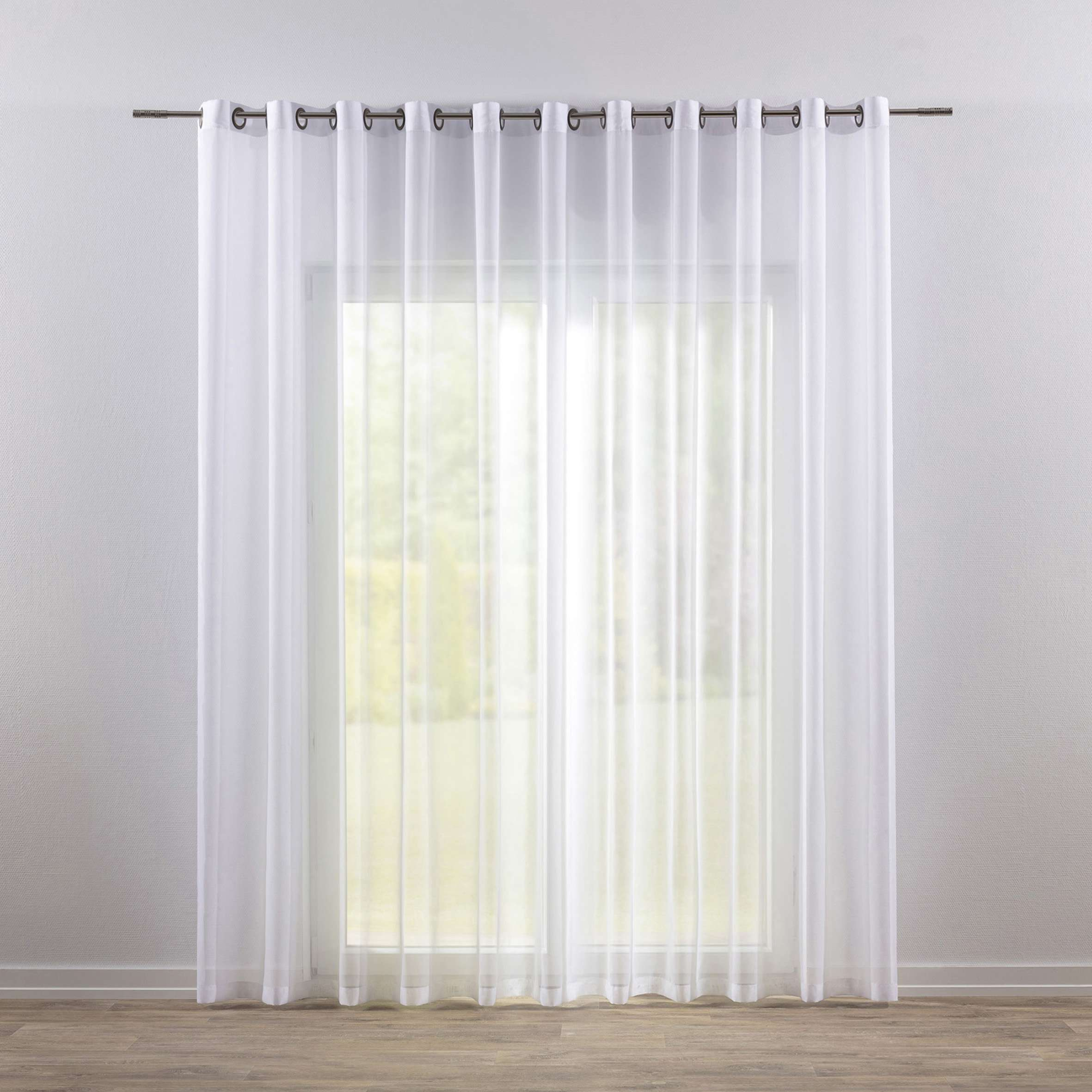 Eyelet Voile Net Curtains White Dekoria