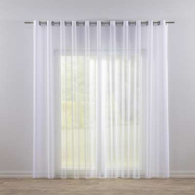 Eyelet voile/net curtains 901-00 white/lead hem  Collection Voile