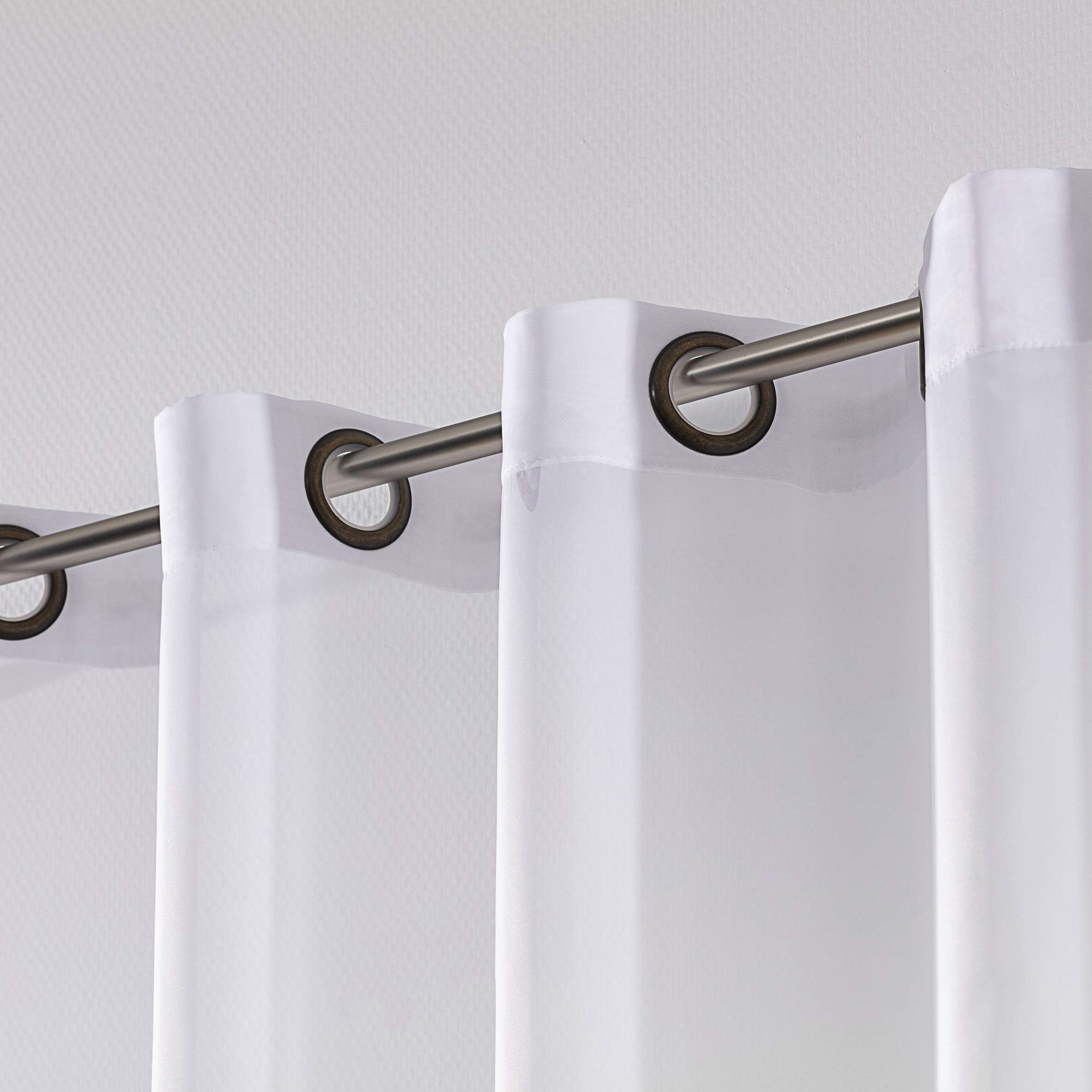 eyelet voile net curtains white lead hem dekoria. Black Bedroom Furniture Sets. Home Design Ideas