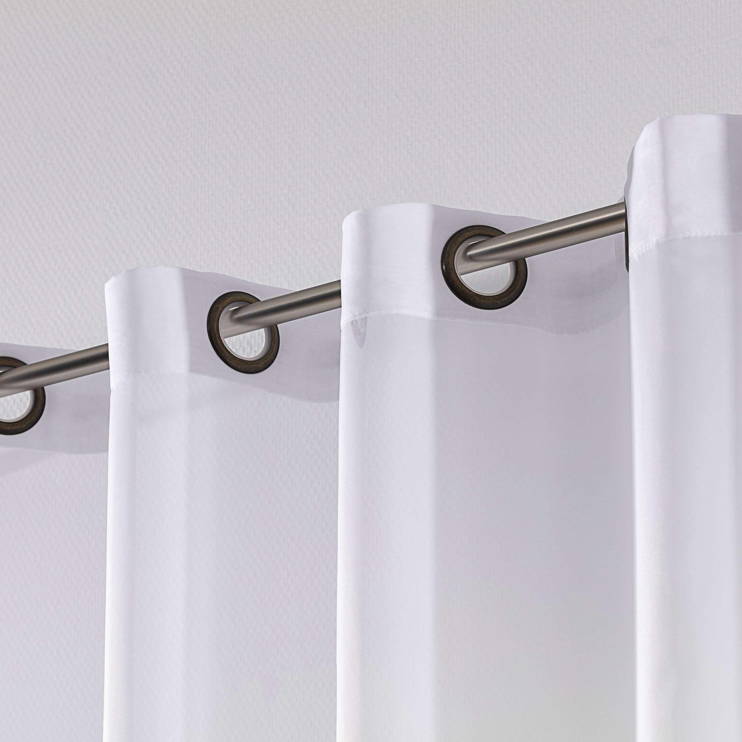 Záclona voálová jednoduchá na kroužcích na míru 300x260cm v kolekci Voile - Voál, látka: 901-00