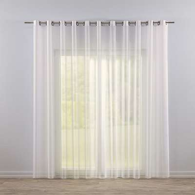 Eyelet voile/net curtains 901-01 ivory/lead hem Collection Voile