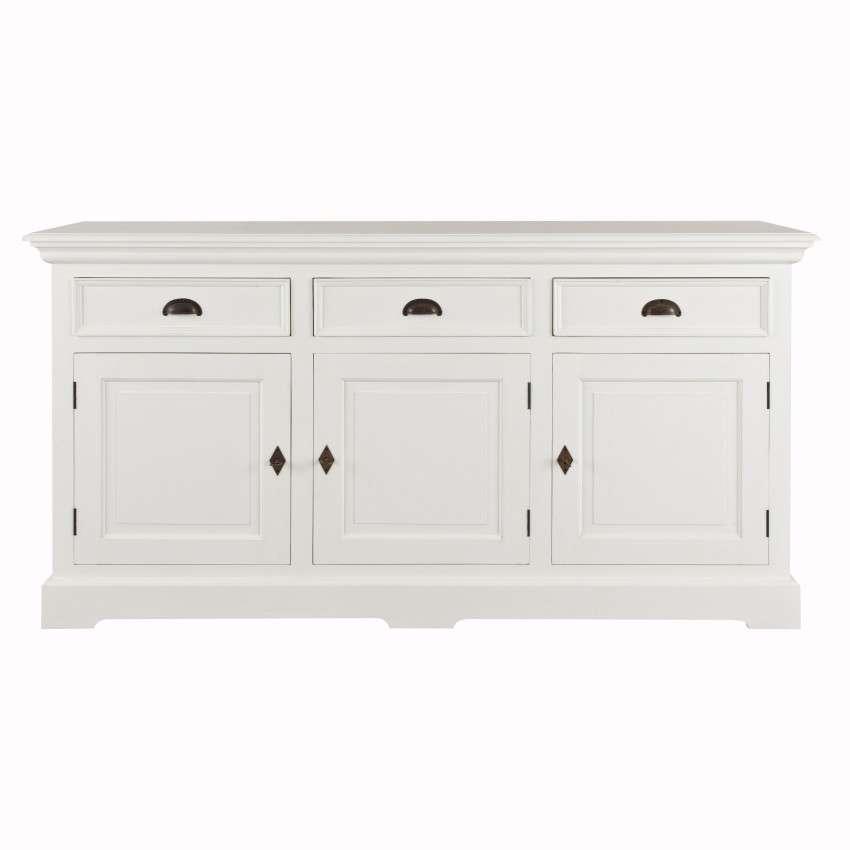Dekoria Komoda Brighton 3 szuflady + 3 drzwi white