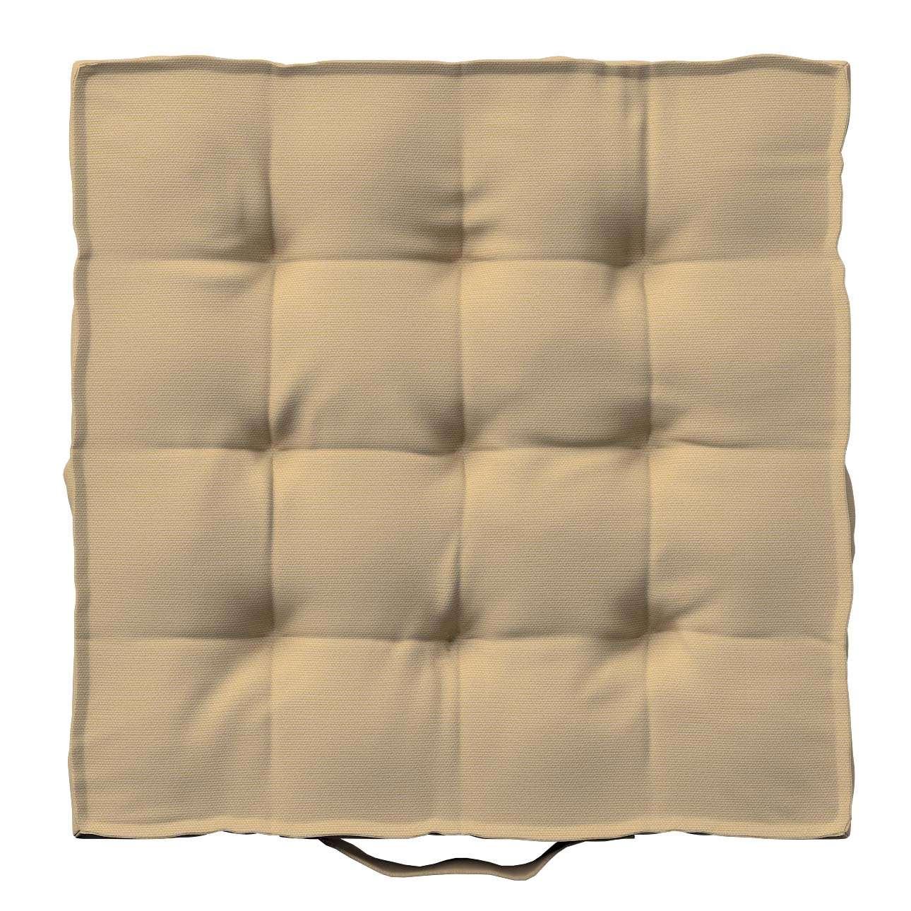 Pagalvėlė Kuba kėdei/ant grindų 40 x 40 x 6 cm kolekcijoje Cotton Panama, audinys: 702-01