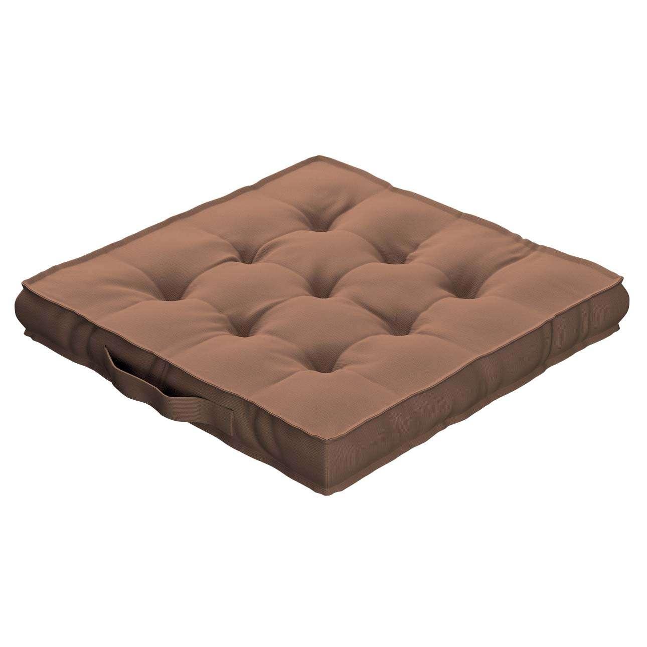 Sitzkissen Jacob mit Handgriff 40 x 40 x 6 cm von der Kollektion Cotton Panama, Stoff: 702-02