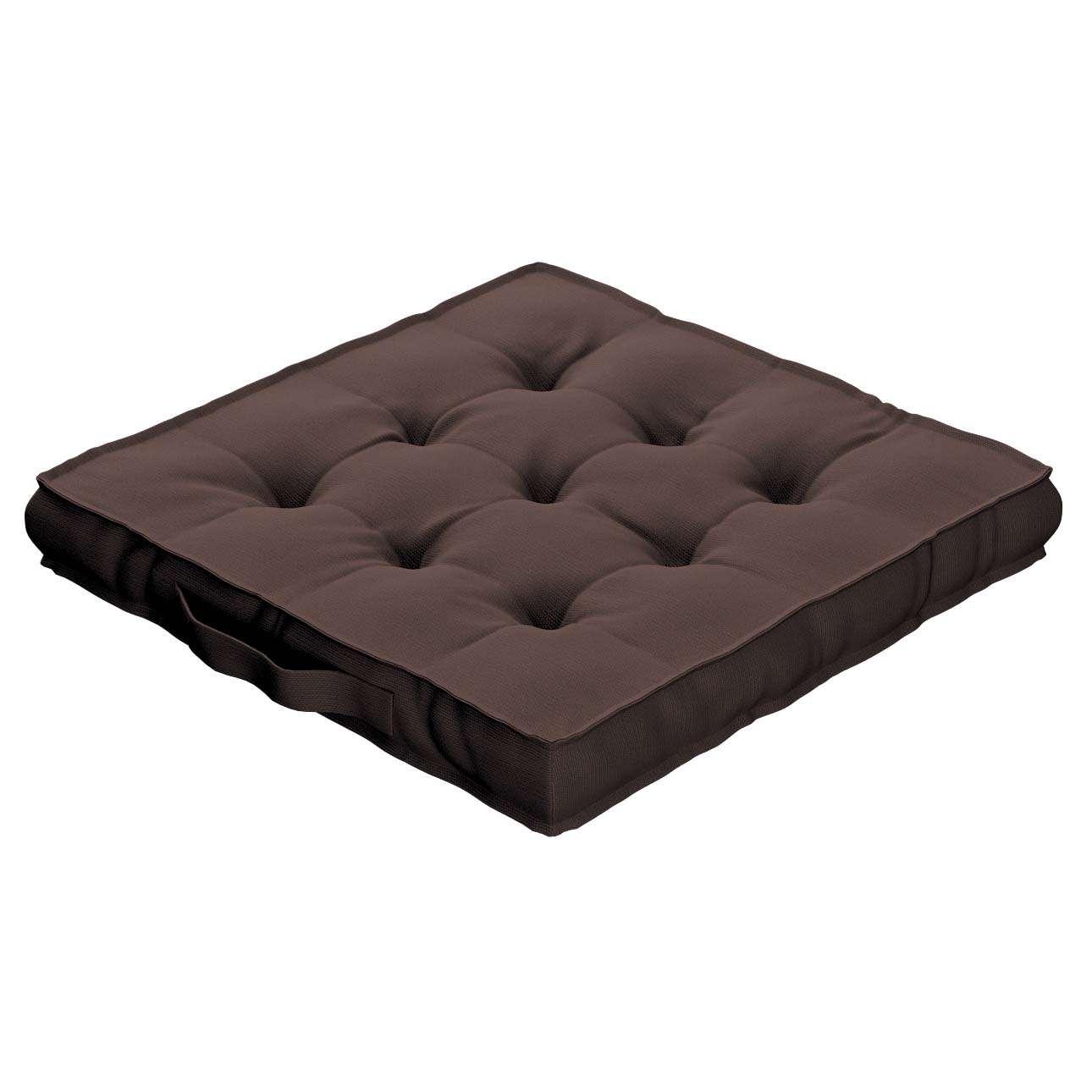 Siedzisko Kuba na krzesło 40x40x6cm w kolekcji Cotton Panama, tkanina: 702-03