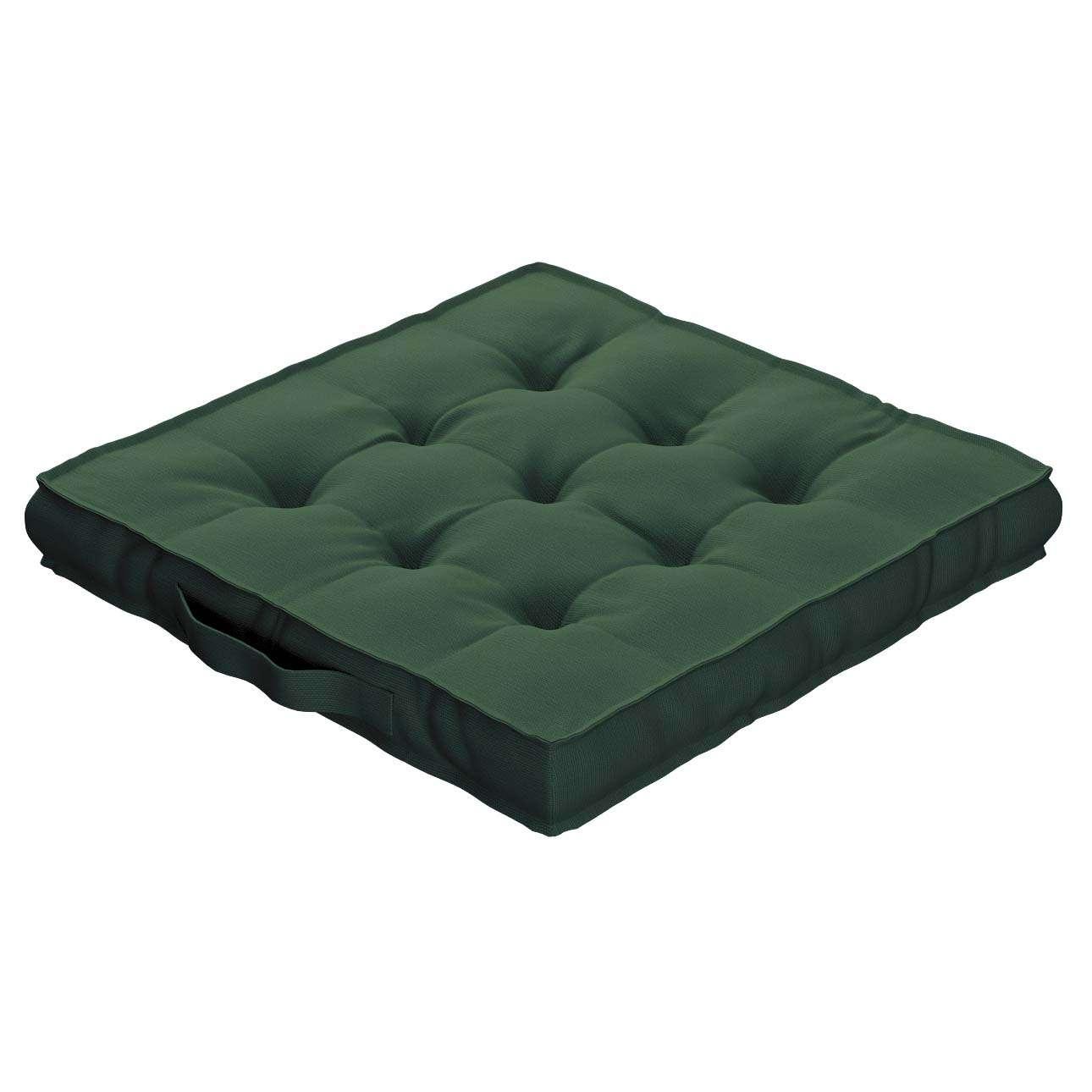 Sitzkissen Jacob mit Handgriff 40 x 40 x 6 cm von der Kollektion Cotton Panama, Stoff: 702-06