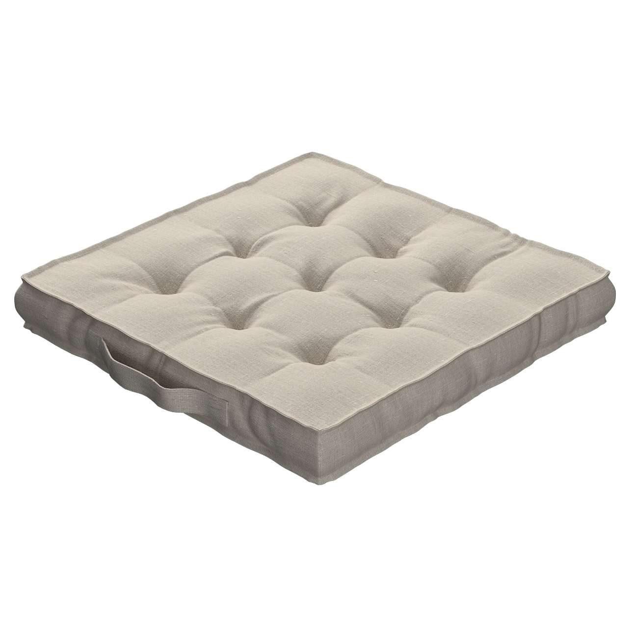 Pagalvėlė Kuba kėdei/ant grindų 40 x 40 x 6 cm kolekcijoje Linen , audinys: 392-05