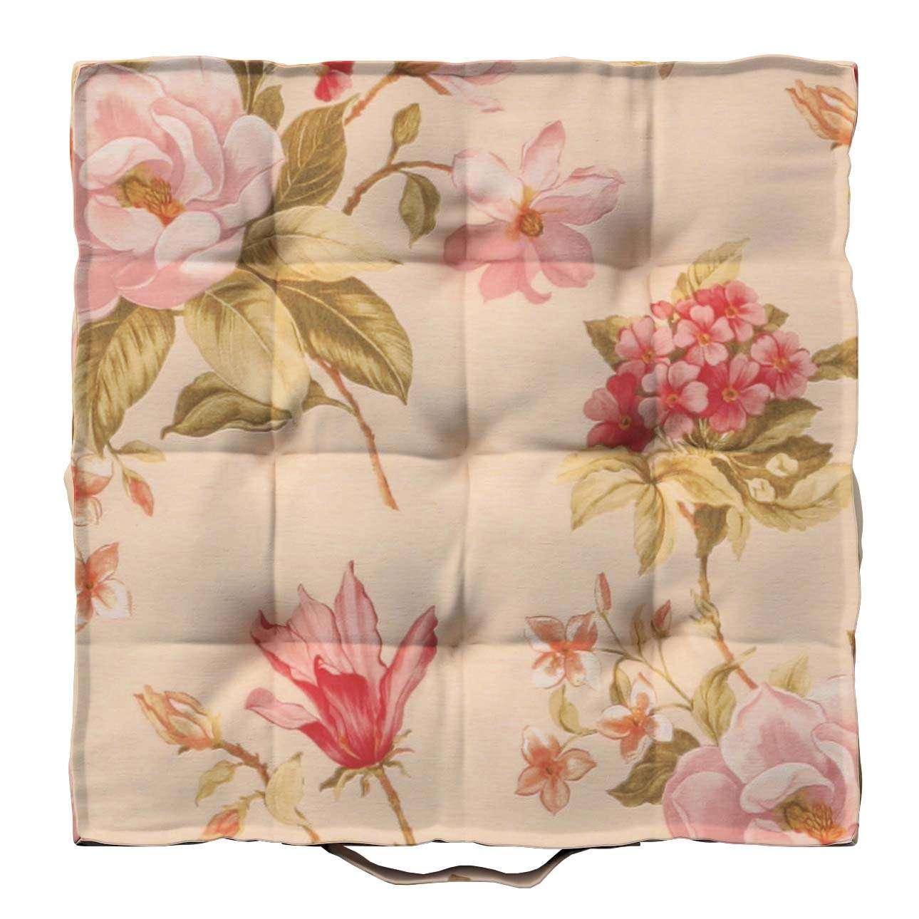 Pagalvėlė Kuba kėdei/ant grindų 40 x 40 x 6 cm kolekcijoje Londres, audinys: 123-05