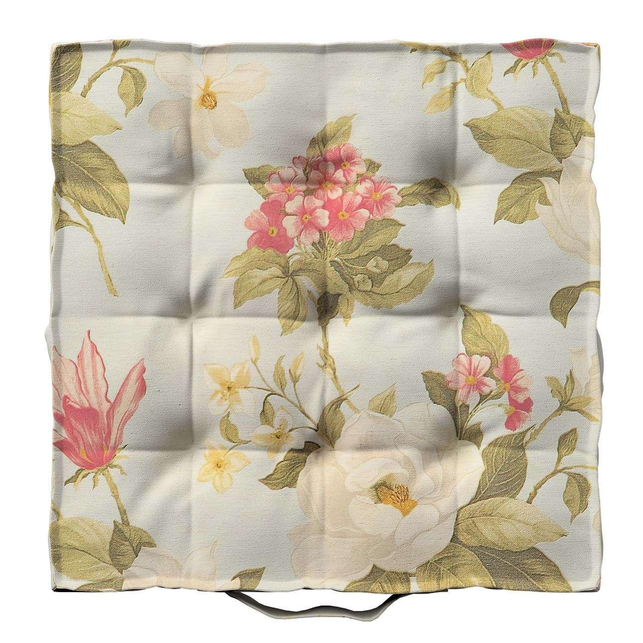 Pagalvėlė Kuba kėdei/ant grindų 40 x 40 x 6 cm kolekcijoje Londres, audinys: 123-65