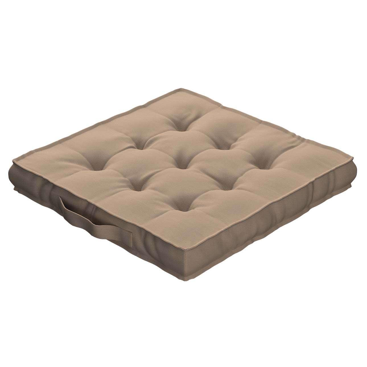 Sitzkissen Jacob mit Handgriff 40 x 40 x 6 cm von der Kollektion Cotton Panama, Stoff: 702-28