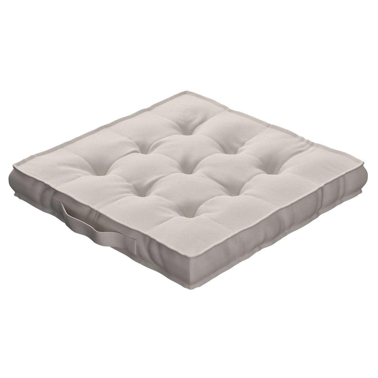 Sitzkissen Jacob mit Handgriff 40 x 40 x 6 cm von der Kollektion Cotton Panama, Stoff: 702-31